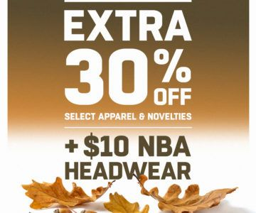 Extra 30% off clearance and NBA hats for $10