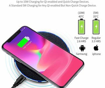 Fast Wireless Charger for iPhone and Samsung – $6.55 w/coupon