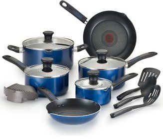 T-Fal Cook-N-Strain 14-Pc. Non-Stick Cookware Set on sale for just $58 with FREE SHIPPING (normally $160)