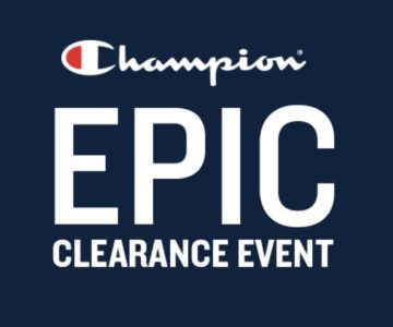EXTRA 20% off Champion + Free Shipping