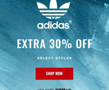 30% off Adidas Shoes and Sportswear with Coupon