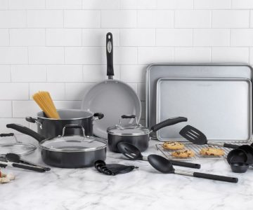 TODAY ONLY – Cuisinart 24-Pc. Aluminum Cookware Set on sale for $29.99 (retail $199)