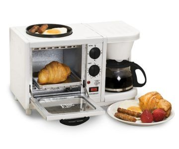 Elite Cuisine 3 In 1 Breakfast Center  (Coffee, Toaster Oven, Griddle) on sale for $36