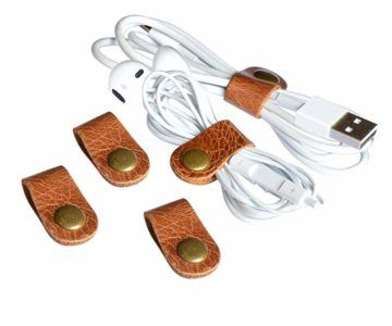 CAILLU leather cord organizer – 5 PACK – $2.79 after coupon