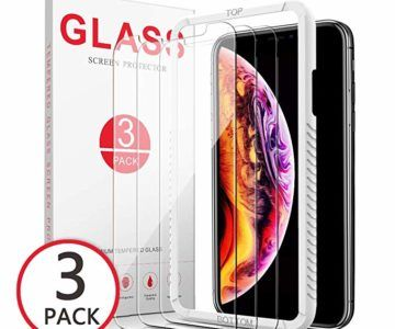 3 Pack iPhone Xs Max Slim Tempered Glass Screen Protector is $3.99 after coupon