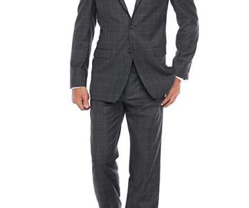 Ralph Lauren Ultraflex Grey Windowpane Suit on sale for $81 (originally $600)