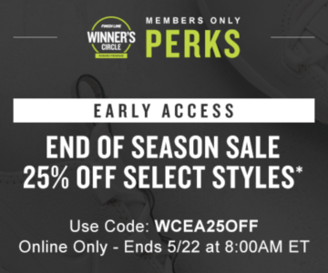 Save an EXTRA 25% OFF sneakers with code