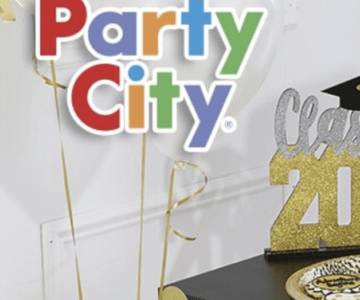Entire Party City Store 20% use code PARTY20 + earn 15% back