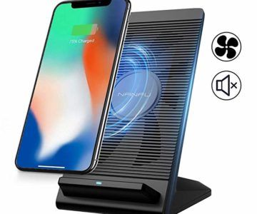 Fast Wireless Charging Stand with Cooling Fan Compatible for iPhone only $9.78