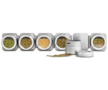 Martha Stewart Magnetic Tin Spice Rack for $16 (retail $34) + 5 years FREE refills