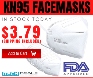 KN-95 Masks for $3.79 each with Free Shipping