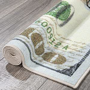 One Hundred Dollar Bill Rug on sale for $11.81