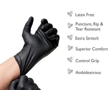 200 Disposable Black Nitrile Medical Gloves for $35 shipped