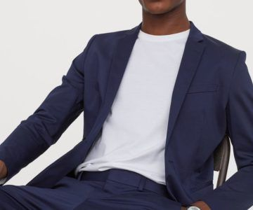 Look slick in this Skinny Fit cotton blazer on sale for just $27.99